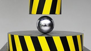 EXPERIMENT HYDRAULIC PRESS 100 TON vs METAL BALL
