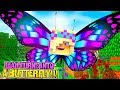 Minecraft LEAH TURNS INTO A BUTTERFLY!!!- Donny & Leah Adventures -