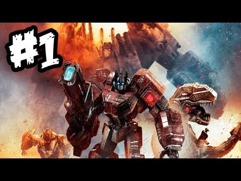 Transformers Fall of Cybertron - Gameplay Walkthrough - Part 1 - WAR BEGINS!! (Xbox 360/PS3/PC)