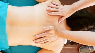 Massage For Shoulder and Back Pain Relief, How to Give a Massage HD 1080p 60 fps