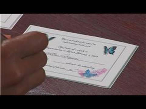 Wedding tips advice how to reply to an rsvp for a for How to rsvp to an invitation