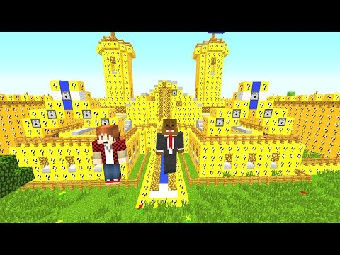 Lucky Block Red VS Blue Mod (Castle Challenge) Minecraft Modded Minigame