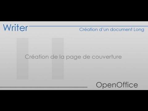 OpenOffice Writer - Partie 11 - Création de la page de couverture
