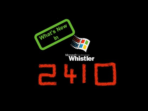What's New in Windows XP/Whistler Build 2410 Part 1 - Panzer