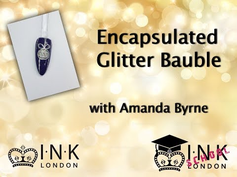Glitter Bauble using INK London Acrylink