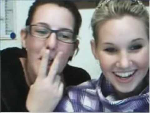 Girls meet cute little kid on chatroulette (reactions)