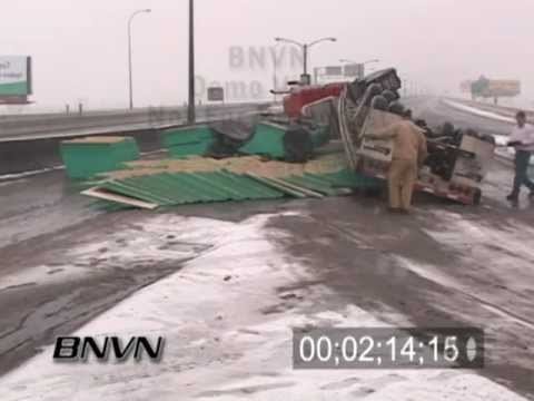 Various Winter Weather Bad Driving Conditions Stock Video Part 4