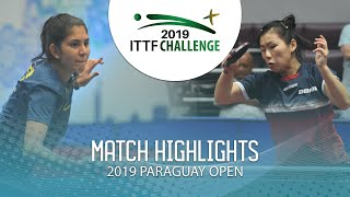 Nathaly Paredes vs Camila Kaizoji | 2019 ITTF Paraguay Open Highlights (U21 1/4)