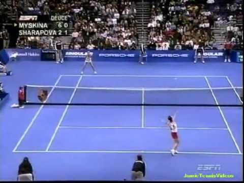 Maria Sharapova vs Anastasia Myskina 2004 YEC Highlights