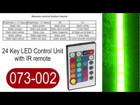 24 Key LED strip light controller