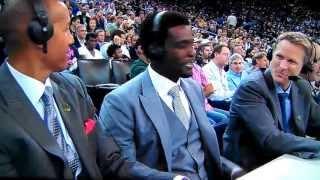 Steve Kerr introducing himself as Marv, Chris Webber as Dick Stockton, & Reggie Miller- Kevin Harlan
