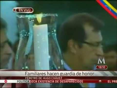 Abren el féretro de Chávez al instalar la capilla ardiente