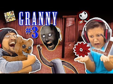 GRANNY HAS NO HEAD, SHE BROKE MY CHAIR & HAS NEW SECRETS! (FGTEEV ESCAPE GRANNY #3) GURKEY!
