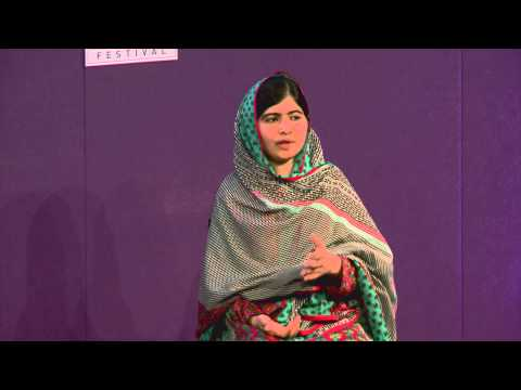 Malala Yousafzai at the Edinburgh International Book Festival