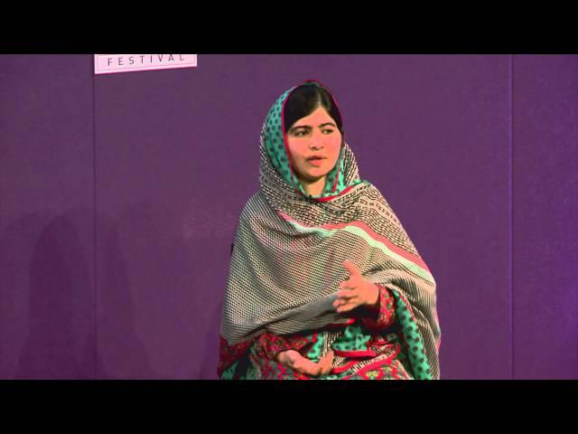 Malala Yousafzai at the Edinburgh International Book Festival
