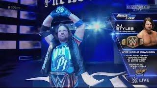 WWE SMACKDOWN 2016 AJ Styles vs. Dean Ambrose - WWE Championship Match: WWE Smackdown 10/11/16