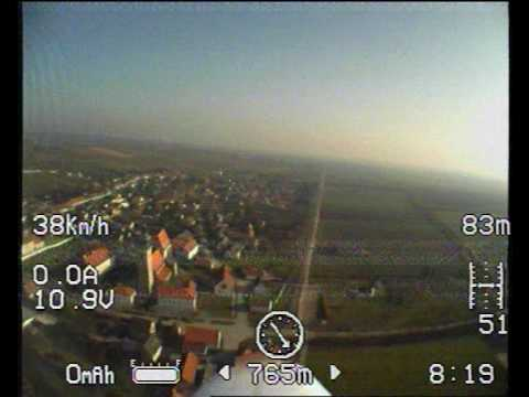 Insane FPV RC Plane Flight! Huge Wind Turbine Crane Train Chase Almost Crash Accident Speed Low Pass