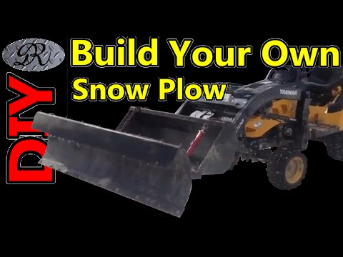 ★Part 1 of 3 Building a home made steel snow plow for my tractor out of a 4x4 atv plow