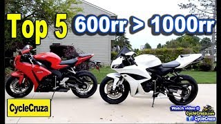 Top 5 Reasons Why CBR600rr is BETTER Than CBR1000rr | MotoVlog