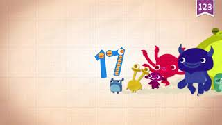 Learn Number Seventeen 17 in English & Counting, Math by Endless Alphabet   Kids Educational Video