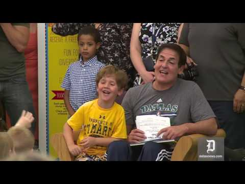 Mark Cuban makes his NBA Finals pick during kids Q&A session at library