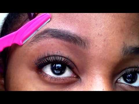 EYEBROW SHAPING FOR BEGINNERS   full EYEBROW TUTORIAL  razor