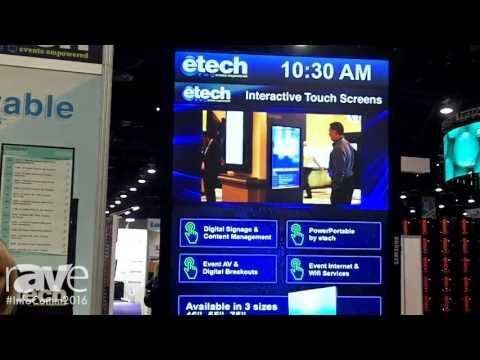 InfoComm 2016: etech events Showcases Power Portable Digital Signage Unit