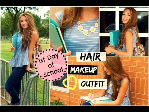First Day of School Hair, Makeup & Outfit!