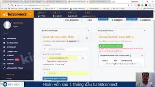 6. Hướng dẫn cách hoàn vốn sau 1 tháng đầu tư Bitconnect