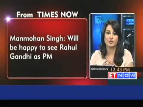Will be happy to see Rahul Gandhi as Prime Minister : Manmohan Singh