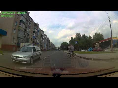 Велосипедист 29.05.14 ДТП Гомель