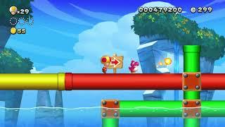New Super Mario Bros U Deluxe - Nintendo Switch - unlock Secret level Acorn Plains and star coins