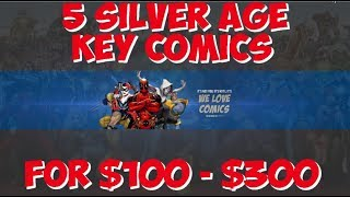 5 silver age comics $100 - $300. Strange Tales 101 is 1st solo torch not 1st silver age
