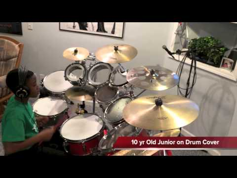 Yahweh (sonnie Badu) - 10 Yr Old Junior On Drum Cover video