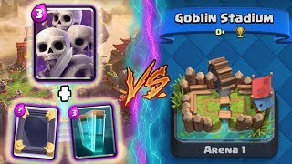 Clash Royale | SKELETON ARMY + CLONE TROLLING ARENA 1! | *FUNNY MOMENTS* (Drop Trolling #80)