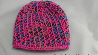 Tunesisch Häkeln Mütze Aus Hatnut Xl 55 Veronika Hug