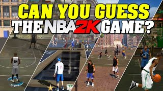 Can you guess the NBA 2K Game?