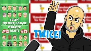 😤TWICE!😤 #12 Every Premier League Manager Reacts