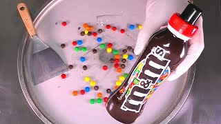 Colorful m&m Ice Cream Rolls | how to make Ice Cream with m&m