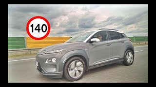 Hyundai Kona Electric EV - High Speed Range Test (ENG) - Test Drive and Review