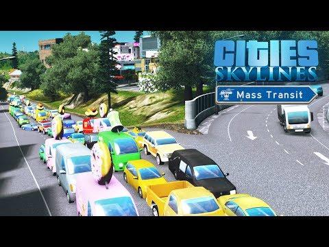 Cities Skylines Mass Transit - Что не так с коммерцией высокой плотности? #43