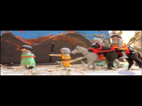 Via crucis con playmobil realizado por niños