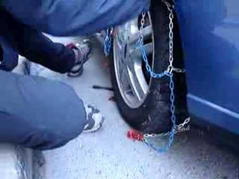 fitting snow chains in calpe spain