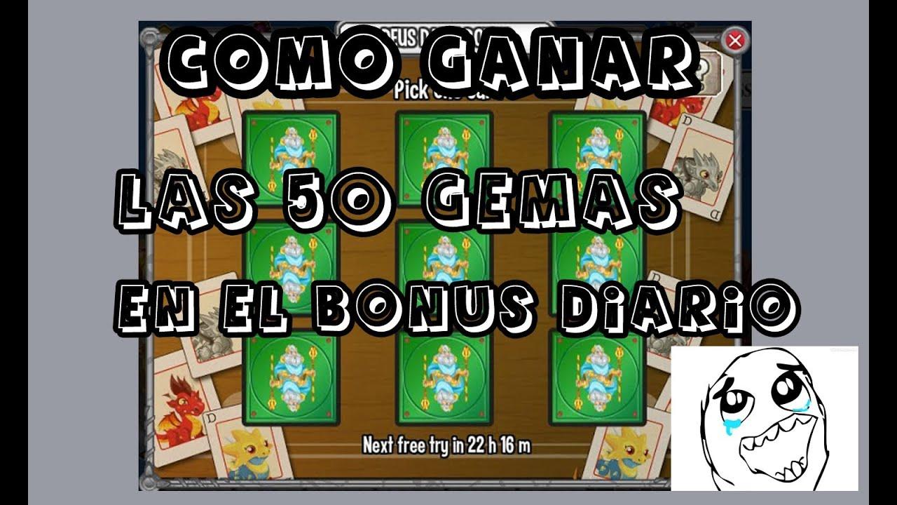 COMO GANAR LAS 50 GEMAS EN EL BONUS DIARIO 100% SEGURO - Dragon City