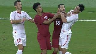 ملخص مباراة قطر 3-0 فلسطين | مباراة دولية ودية 2018/9/11