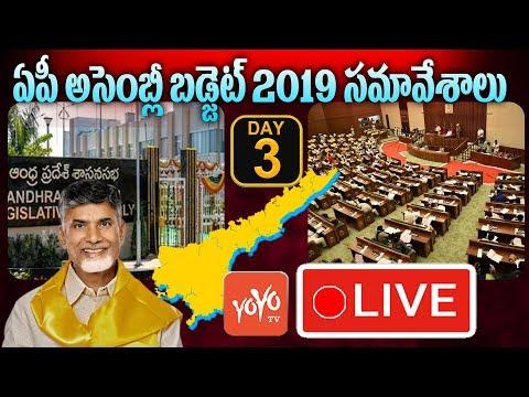 AP Assembly LIVE | Andhra Pradesh Assembly Budget 2019 LIVE | Chandrababu Speech  | YOYO TV Channel