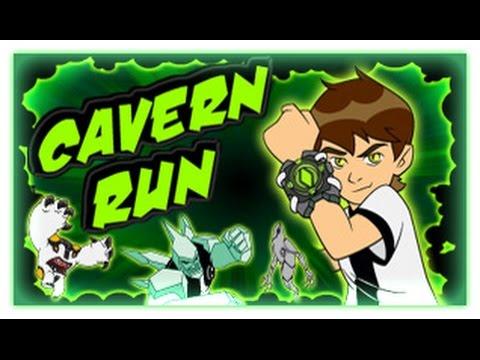Ben 10 -  Cavern Run -  Ben 10 Games