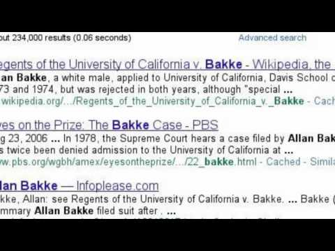 a study of the case of regents of the university of california v bakke A case in which the court found that any racial  5–4 decision for regents of the university of california  regents of the university of california v bakke.