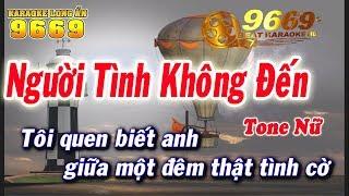 Karaoke Người Tình Không Đến | Tone NỮ | Nhạc sống LA STUDIO | Karaoke 9669