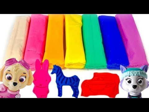 Play Doh Fun with Paw Patrol Animals Shapes and Colors